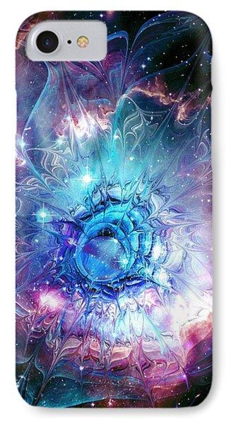 Flower Nebula Phone Case by Anastasiya Malakhova