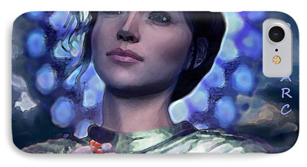 IPhone Case featuring the painting Joan Of Arc Flower Of France by Suzanne Silvir