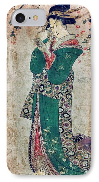 Flower Of Japan C. 1804 Phone Case by Daniel Hagerman