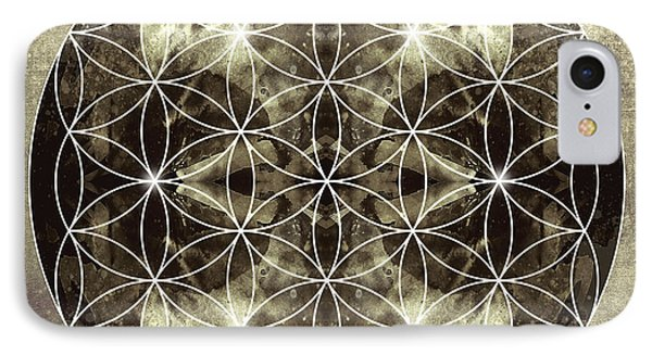 Flower Of Life Silver Phone Case by Filippo B
