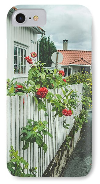 Flower On The Fence IPhone Case by Mirra Photography