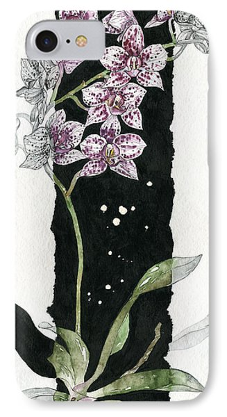 IPhone Case featuring the painting Flower Orchid 04 Elena Yakubovich by Elena Yakubovich