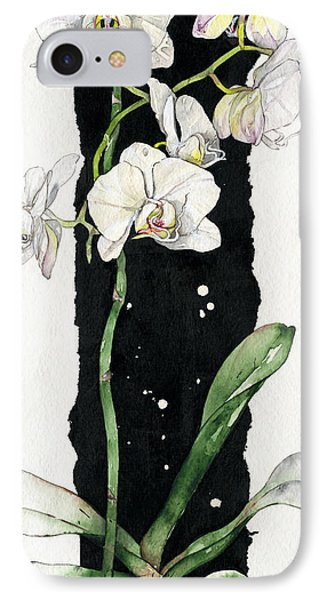 IPhone Case featuring the painting Flower Orchid 05 Elena Yakubovich by Elena Yakubovich