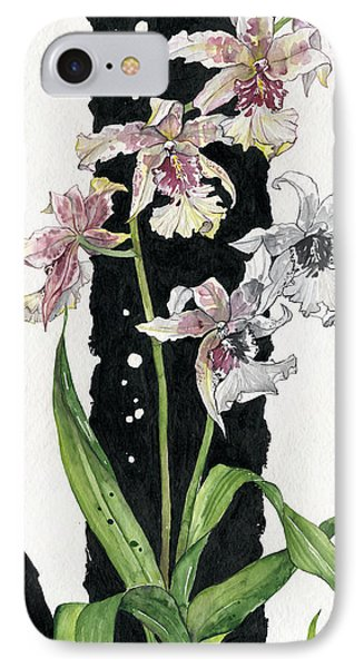 IPhone Case featuring the painting Flower Orchid 06 Elena Yakubovich by Elena Yakubovich