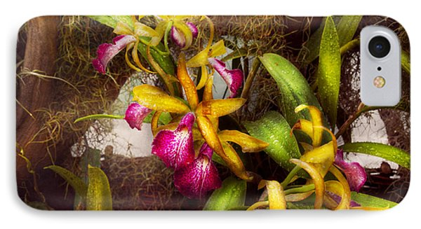 Flower - Orchid - Cattleya - There's Something About Orchids  IPhone Case by Mike Savad