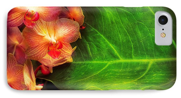 Flower - Orchid - Phalaenopsis Orchids At Rest Phone Case by Mike Savad
