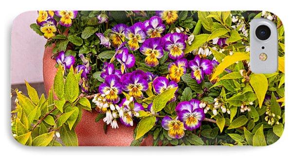 Flower - Pansy - Purple Posies  Phone Case by Mike Savad