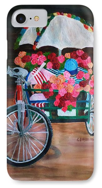 IPhone Case featuring the painting Flower Peddler by Christy Saunders Church