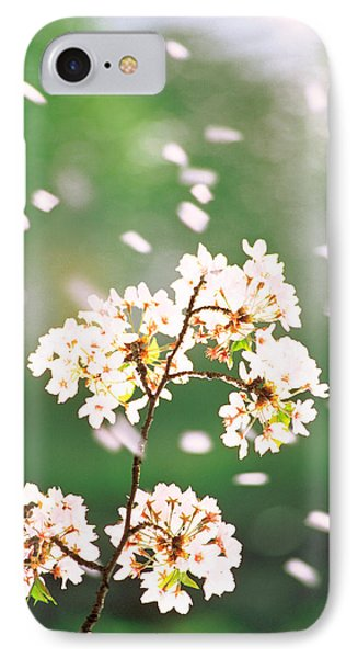 Flower Petals Floating In Air IPhone Case