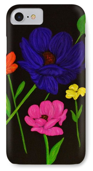 IPhone Case featuring the painting Flower Play by Celeste Manning