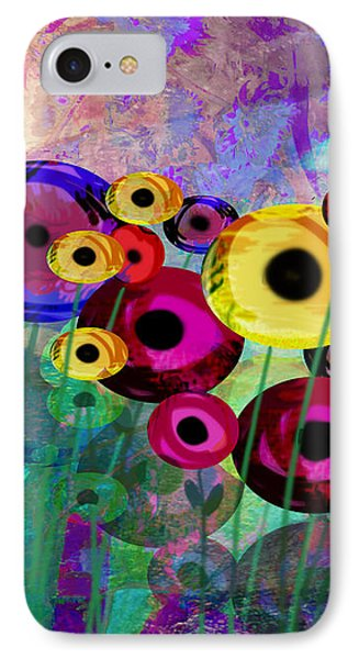 Flower Power Abstract Art  IPhone Case