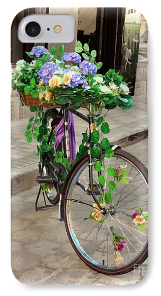 Flower Power Meets Pedal Power  IPhone Case