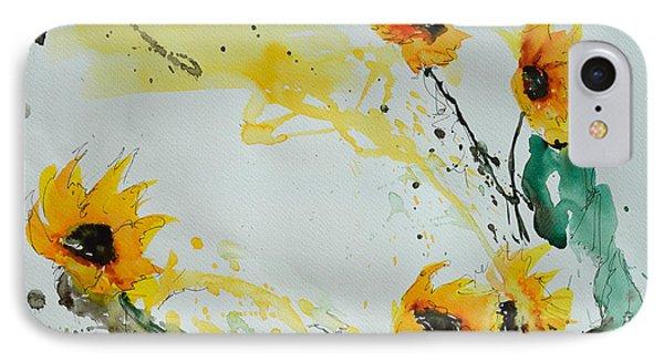 Flower Power- Sunflower Phone Case by Ismeta Gruenwald