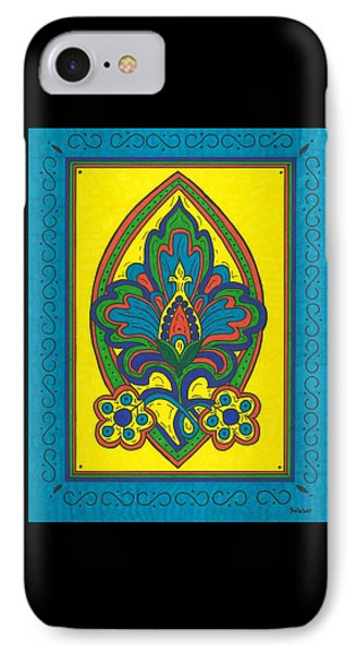 IPhone Case featuring the painting Flower Power Talavera Style by Susie Weber