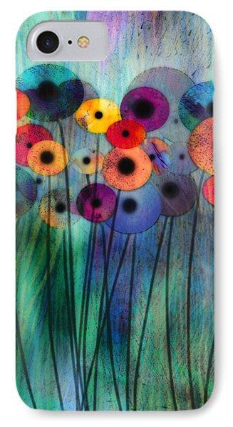 Flower Power Three IPhone Case by Ann Powell