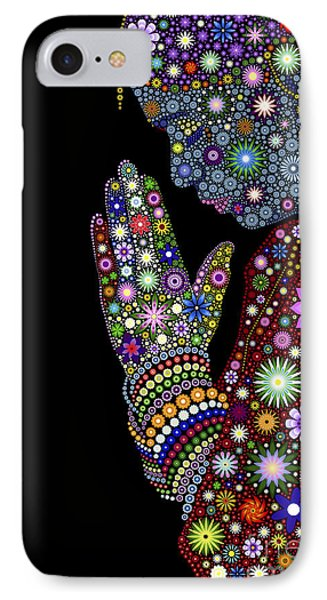 Flower Prayer Girl IPhone Case by Tim Gainey