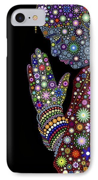 Flower Prayer Girl IPhone Case