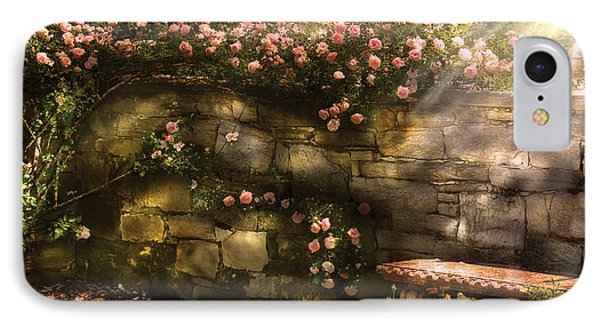 Flower - Rose - In The Rose Garden  Phone Case by Mike Savad