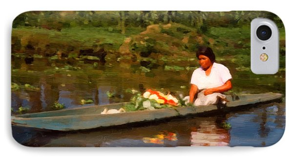 Flower Seller Xochimilco IPhone Case