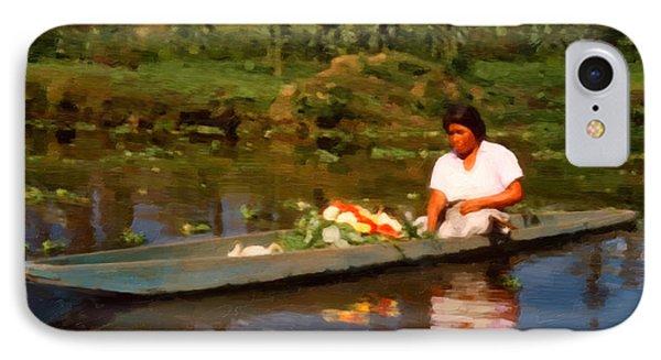 Flower Seller Xochimilco IPhone Case by Spyder Webb