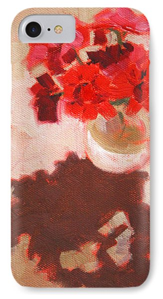 Flower Shadows Still Life IPhone Case by Nancy Merkle