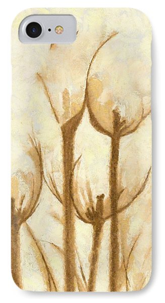 Flower Sketch IPhone Case by Yanni Theodorou