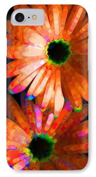 Flower Study 5 - Vibrant Orange By Sharon Cummings Phone Case by Sharon Cummings