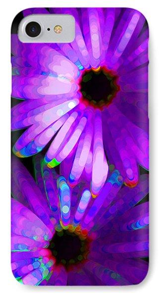 Flower Study 6 - Vibrant Purple By Sharon Cummings Phone Case by Sharon Cummings