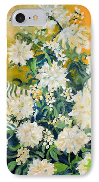 IPhone Case featuring the painting Flower Study by Julie Todd-Cundiff
