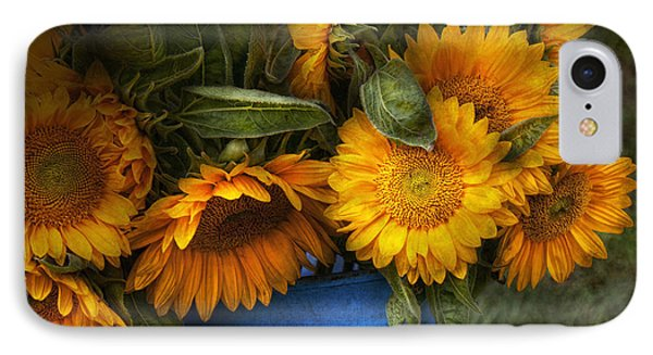 Flower - Sunflower - The Suns Have Risen  Phone Case by Mike Savad