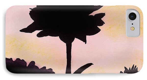 IPhone Case featuring the drawing Flower - Sunrise by D Hackett