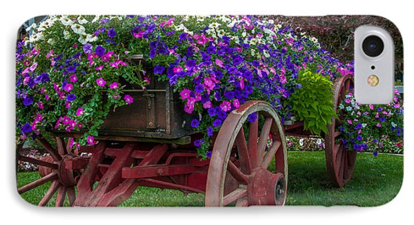 Flower Wagon Phone Case by Gene Sherrill