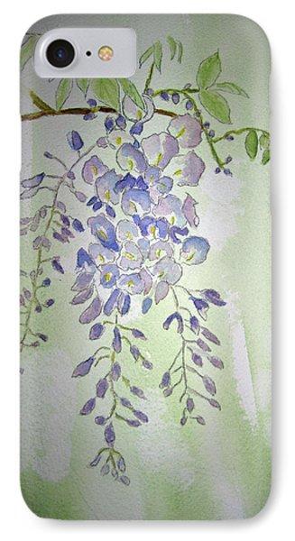 Flowering Wisteria IPhone Case by Elvira Ingram