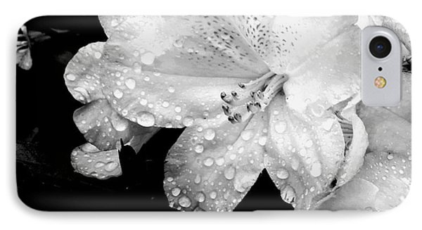 Flower With Water Drops IPhone Case by Rose Wang