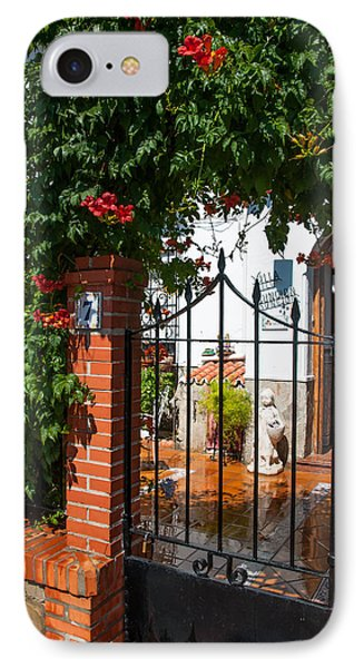 Flowered Entrance. Ronda. Andalusia IPhone Case by Jenny Rainbow