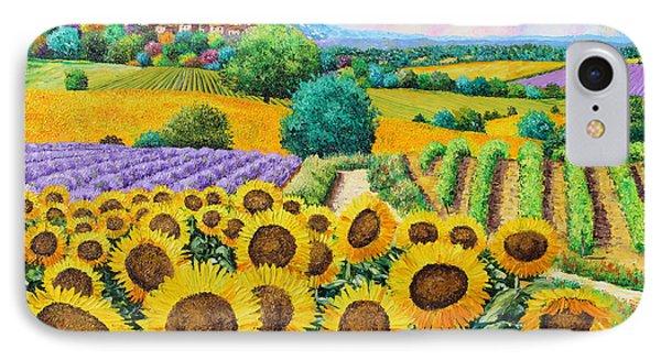 Flowered Garden Phone Case by Jean-Marc Janiaczyk