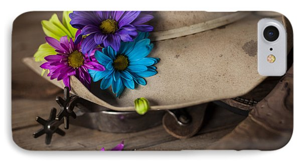 Flowered Hat IPhone Case by Amber Kresge