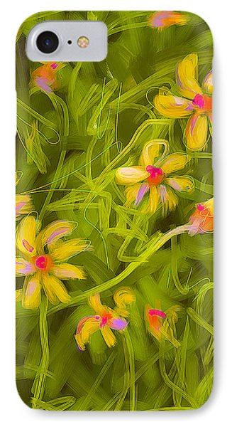 IPhone Case featuring the painting Flowerfield by Go Van Kampen