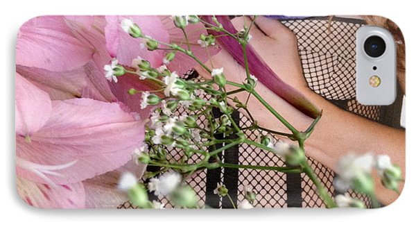 Flowergirl1 IPhone Case by Susan Townsend