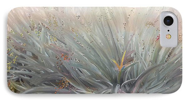 Flowering Bushes In The Fog Phone Case by Angela A Stanton