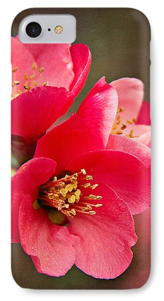 IPhone Case featuring the digital art Flowering Quince by Lana Trussell