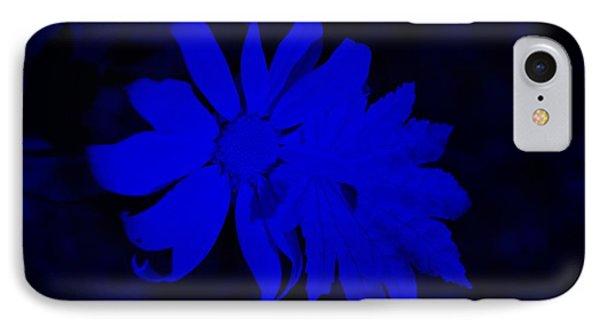 Flowerleaf Blue IPhone Case