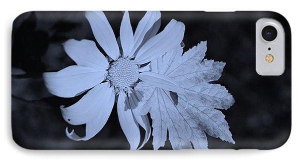 Flowerleaf Cyan IPhone Case