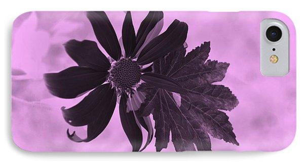 Flowerleaf Neg Pink IPhone Case