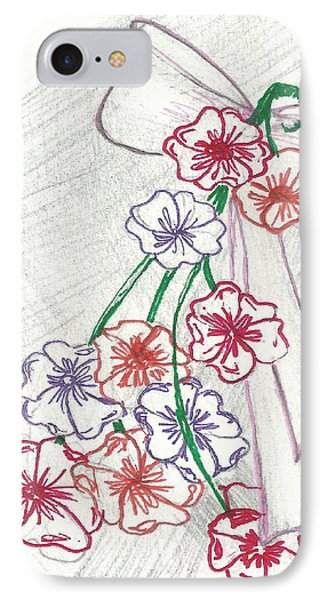 Flowers And Bow Phone Case by Becky Sterling
