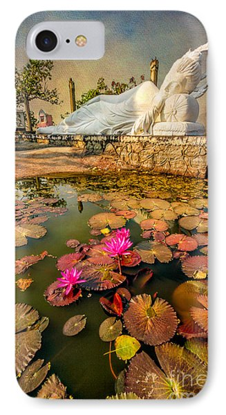 Flowers And Buddha IPhone Case by Adrian Evans