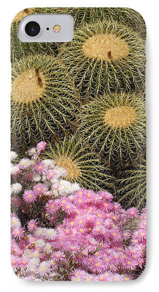Flowers And Cacti IPhone Case