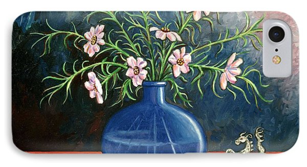 Flowers And Dragon Phone Case by Linda Mears