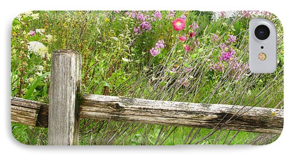 Flowers And Fences Phone Case by Marilyn Smith