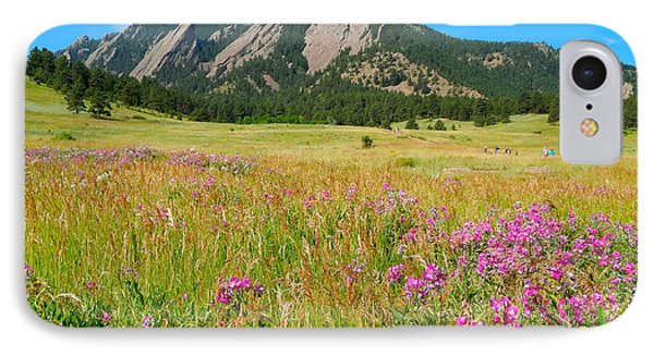 The Flatirons Colorado IPhone Case by Dan Miller
